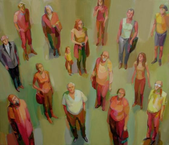DIALOG.    120x140cm, Acryl, Leinwand