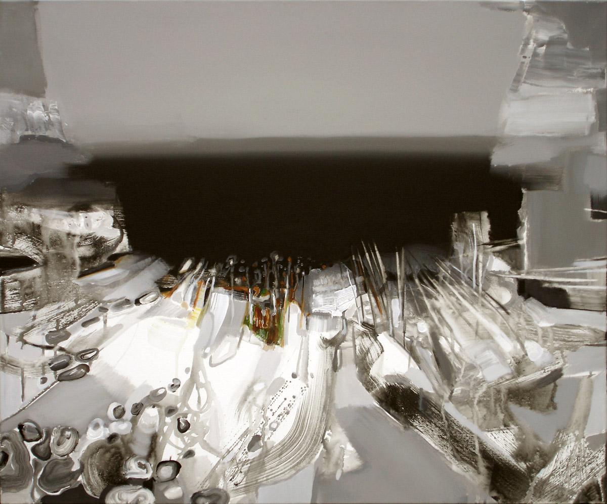 LANDSCHAFT 1.   100x120cm, Acryl, Leinwand