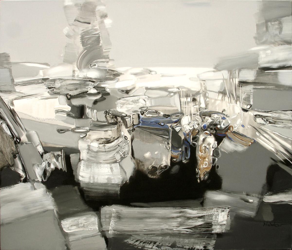 LANDSCHAFT 2.   120x140cm, Acryl, Leinwand