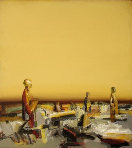 OHNE TITEL.   90x110cm, Acryl, Leinwand
